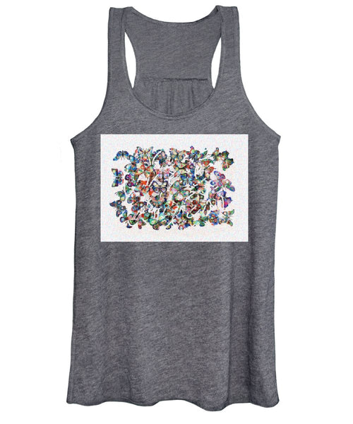 Tribute to Gestein - Women's Tank Top - ALEFBET - THE HEBREW LETTERS ART GALLERY