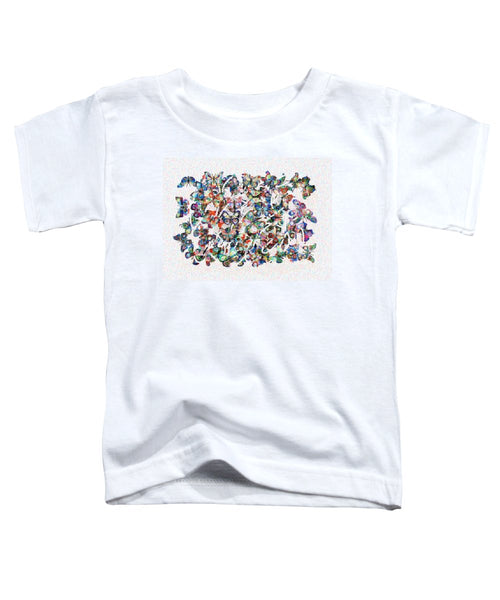 Tribute to Gestein - Toddler T-Shirt - ALEFBET - THE HEBREW LETTERS ART GALLERY