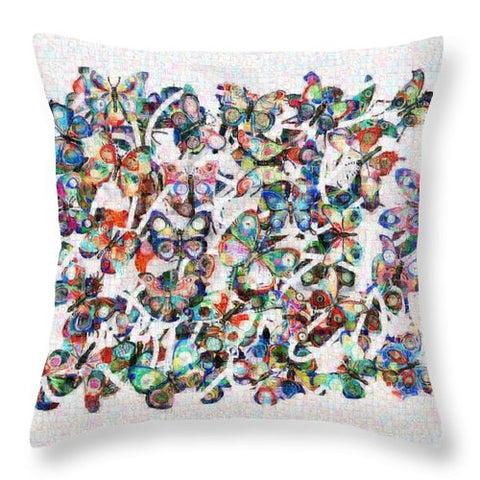 Tribute to Gestein - Throw Pillow - ALEFBET - THE HEBREW LETTERS ART GALLERY