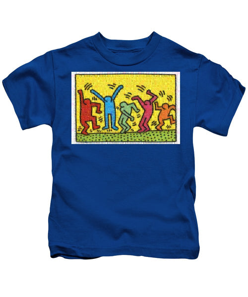 Tribute to Haring - Kids T-Shirt - ALEFBET - THE HEBREW LETTERS ART GALLERY