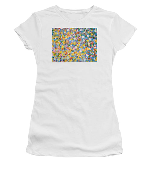 Tribute to Hirst - Women's T-Shirt - ALEFBET - THE HEBREW LETTERS ART GALLERY
