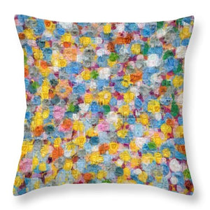 Tribute to Hirst - Throw Pillow - ALEFBET - THE HEBREW LETTERS ART GALLERY