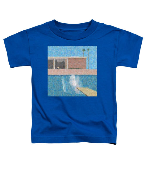 Tribute to Hockney - Toddler T-Shirt - ALEFBET - THE HEBREW LETTERS ART GALLERY