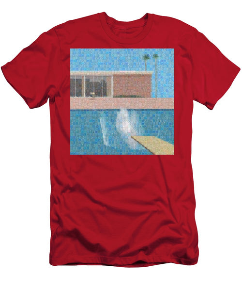 Tribute to Hockney - T-Shirt - ALEFBET - THE HEBREW LETTERS ART GALLERY