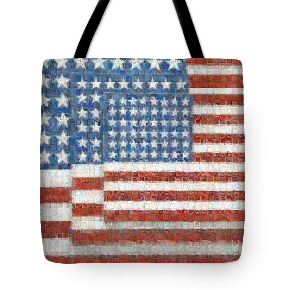 Tribute to Jasper Jones - Tote Bag - ALEFBET - THE HEBREW LETTERS ART GALLERY