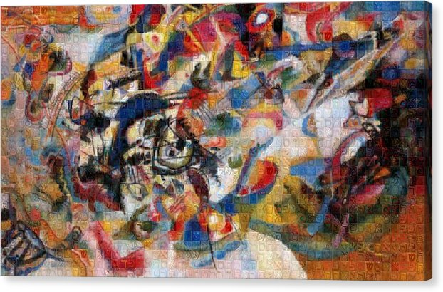 Tribute to Kandinsky - 1 - Canvas Print - ALEFBET - THE HEBREW LETTERS ART GALLERY