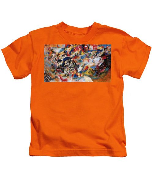 Tribute to Kandinsky - 1 - Kids T-Shirt - ALEFBET - THE HEBREW LETTERS ART GALLERY