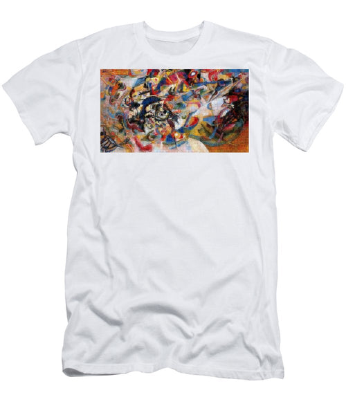 Tribute to Kandinsky - 1 - T-Shirt - ALEFBET - THE HEBREW LETTERS ART GALLERY