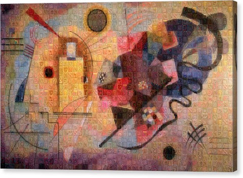 Tribute to Kandinsky - 2 - Canvas Print - ALEFBET - THE HEBREW LETTERS ART GALLERY