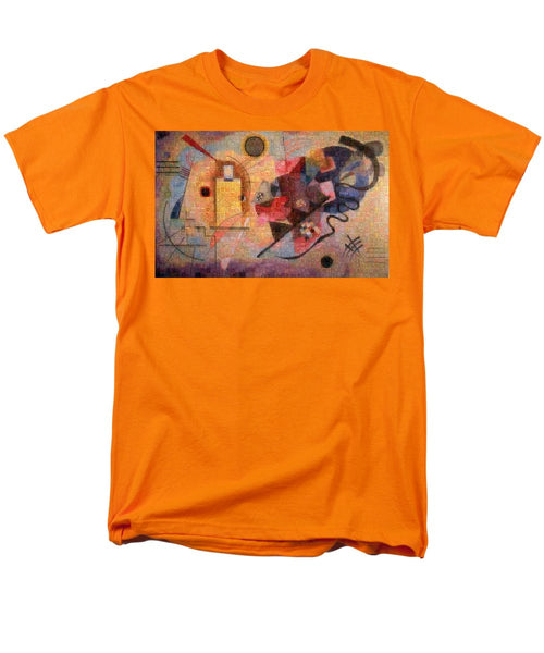 Tribute to Kandinsky - 2 - Men's T-Shirt  (Regular Fit) - ALEFBET - THE HEBREW LETTERS ART GALLERY