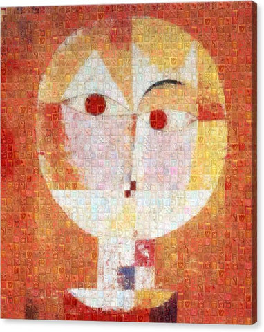 Tribute to Klee - 1 - Canvas Print - ALEFBET - THE HEBREW LETTERS ART GALLERY