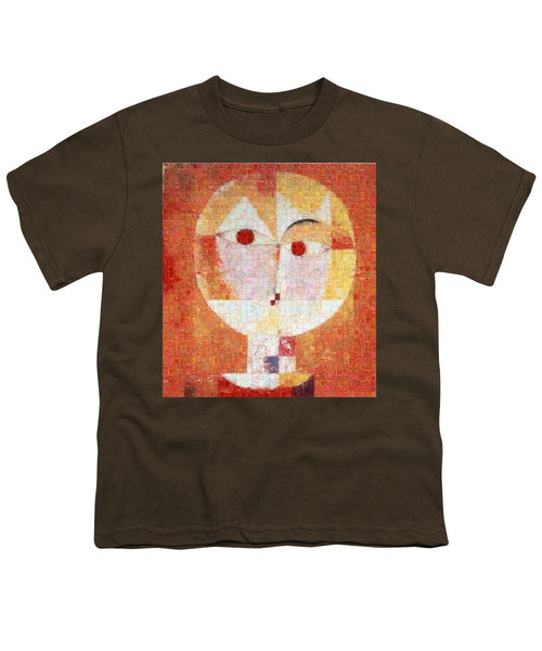 Tribute to Klee - 1 - Youth T-Shirt - ALEFBET - THE HEBREW LETTERS ART GALLERY