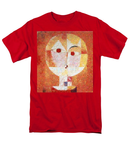 Tribute to Klee - 1 - Men's T-Shirt  (Regular Fit) - ALEFBET - THE HEBREW LETTERS ART GALLERY