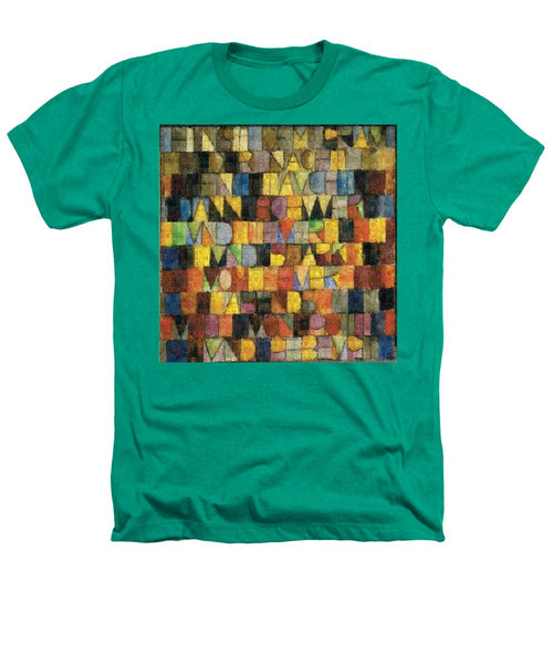 Tribute to Klee - 2 - Heathers T-Shirt - ALEFBET - THE HEBREW LETTERS ART GALLERY