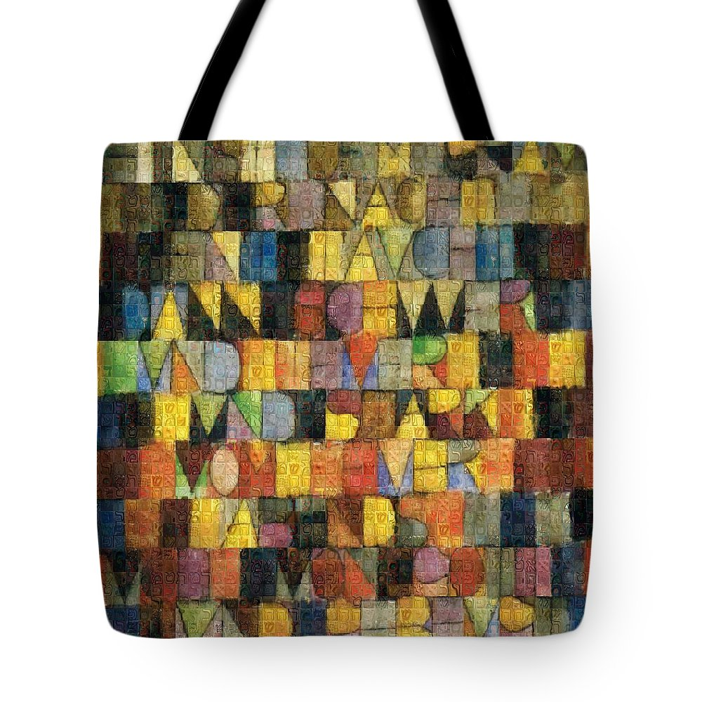 Tribute to Klee - 2 - Tote Bag - ALEFBET - THE HEBREW LETTERS ART GALLERY