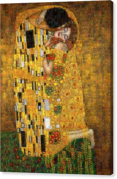 Tribute to Klimt - Canvas Print - ALEFBET - THE HEBREW LETTERS ART GALLERY