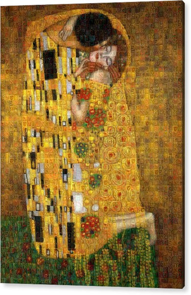 Tribute to Klimt - Acrylic Print - ALEFBET - THE HEBREW LETTERS ART GALLERY
