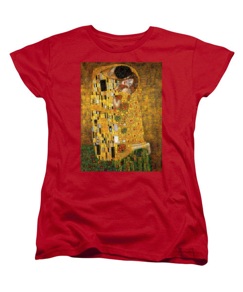 Tribute to Klimt - Women's T-Shirt (Standard Fit) - ALEFBET - THE HEBREW LETTERS ART GALLERY