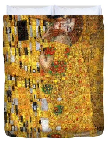 Tribute to Klimt - Duvet Cover - ALEFBET - THE HEBREW LETTERS ART GALLERY