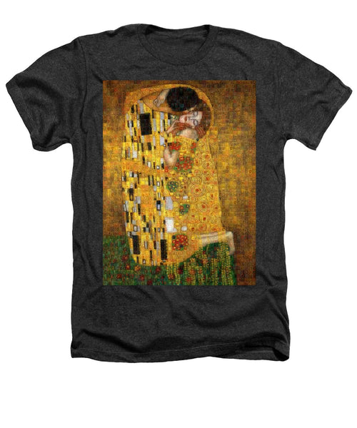 Tribute to Klimt - Heathers T-Shirt - ALEFBET - THE HEBREW LETTERS ART GALLERY