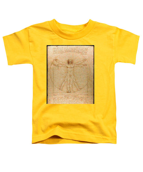 Tribute to Leonardo - Toddler T-Shirt - ALEFBET - THE HEBREW LETTERS ART GALLERY