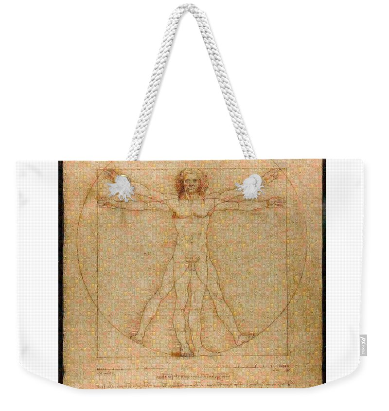 Tribute to Leonardo - Weekender Tote Bag - ALEFBET - THE HEBREW LETTERS ART GALLERY