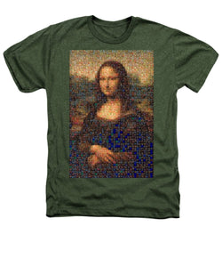 Tribute to Leonardo - Mona Lisa - Heathers T-Shirt - ALEFBET - THE HEBREW LETTERS ART GALLERY