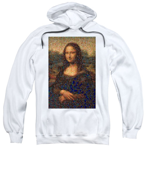 Tribute to Leonardo - Mona Lisa - Sweatshirt - ALEFBET - THE HEBREW LETTERS ART GALLERY