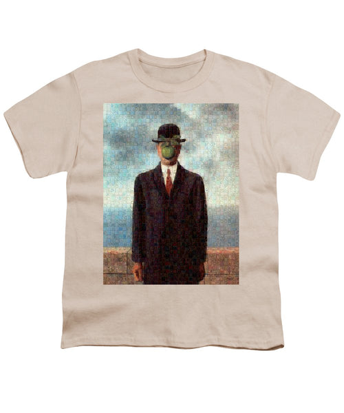 Tribute to MAgritte - Youth T-Shirt - ALEFBET - THE HEBREW LETTERS ART GALLERY