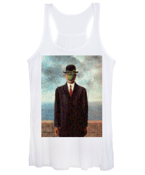 Tribute to MAgritte - Women's Tank Top - ALEFBET - THE HEBREW LETTERS ART GALLERY