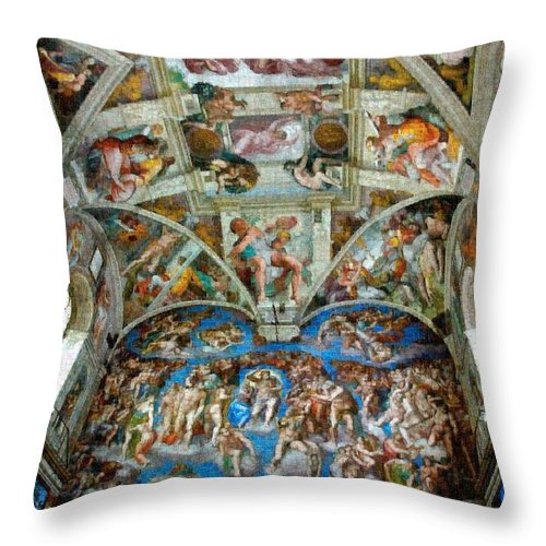 Tribute to Michelangelo - Throw Pillow - ALEFBET - THE HEBREW LETTERS ART GALLERY