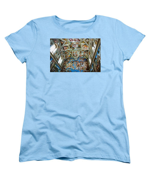 Tribute to Michelangelo - Women's T-Shirt (Standard Fit) - ALEFBET - THE HEBREW LETTERS ART GALLERY