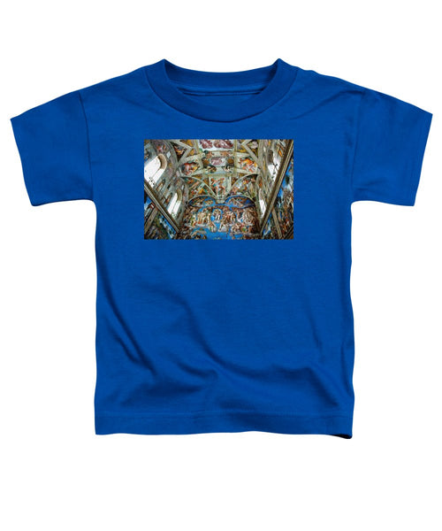 Tribute to Michelangelo - Toddler T-Shirt - ALEFBET - THE HEBREW LETTERS ART GALLERY