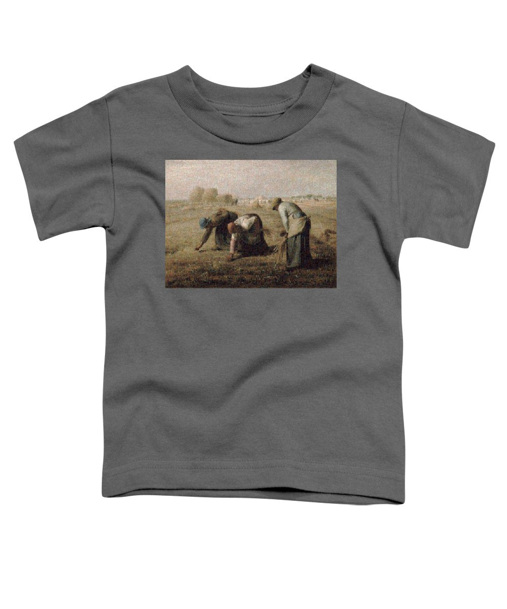 Tribute to Millet - Toddler T-Shirt - ALEFBET - THE HEBREW LETTERS ART GALLERY