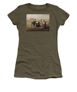 Tribute to Millet - Women's T-Shirt - ALEFBET - THE HEBREW LETTERS ART GALLERY