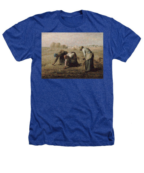 Tribute to Millet - Heathers T-Shirt - ALEFBET - THE HEBREW LETTERS ART GALLERY