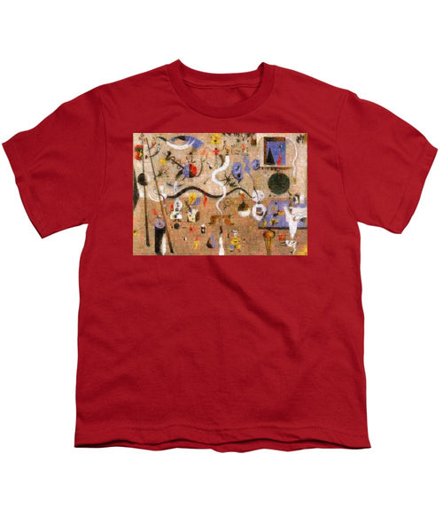 Tribute to Miro - 1 - Youth T-Shirt - ALEFBET - THE HEBREW LETTERS ART GALLERY