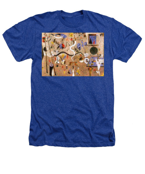 Tribute to Miro - 1 - Heathers T-Shirt - ALEFBET - THE HEBREW LETTERS ART GALLERY