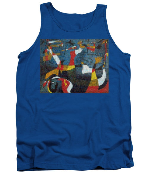 Tribute to Miro - 2 - Tank Top - ALEFBET - THE HEBREW LETTERS ART GALLERY
