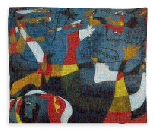 Tribute to Miro - 2 - Blanket - ALEFBET - THE HEBREW LETTERS ART GALLERY