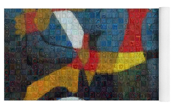 Tribute to Miro - 2 - Yoga Mat - ALEFBET - THE HEBREW LETTERS ART GALLERY