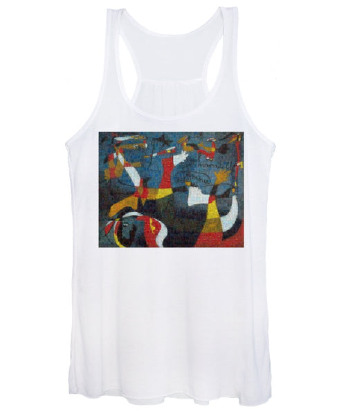 Tribute to Miro - 2 - Women's Tank Top - ALEFBET - THE HEBREW LETTERS ART GALLERY