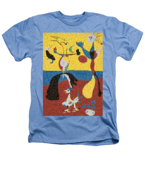 Tribute to Miro - 3 - Heathers T-Shirt - ALEFBET - THE HEBREW LETTERS ART GALLERY