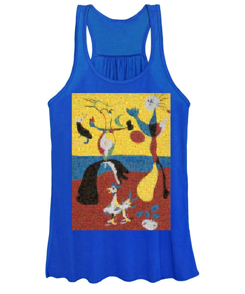 Tribute to Miro - 3 - Women's Tank Top - ALEFBET - THE HEBREW LETTERS ART GALLERY