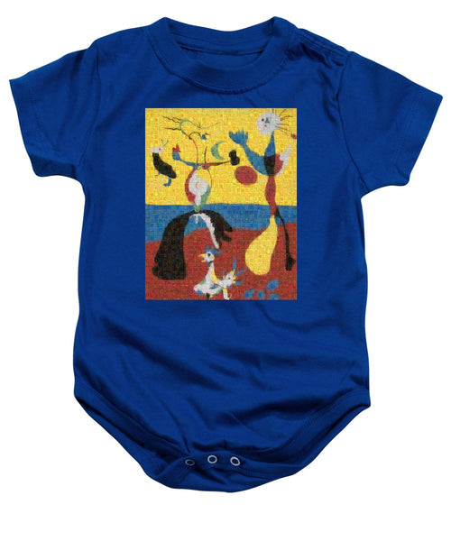 Tribute to Miro - 3 - Baby Onesie - ALEFBET - THE HEBREW LETTERS ART GALLERY