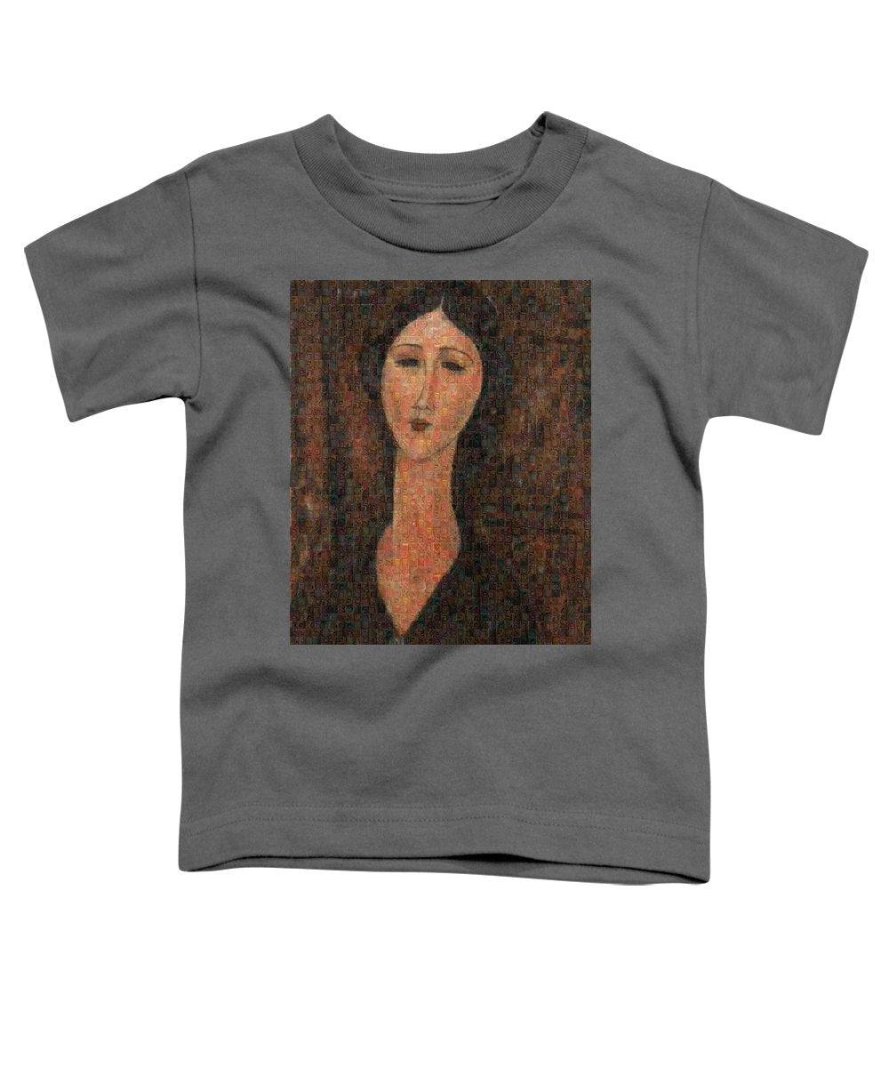 Tribute to Modigliani - 1 - Toddler T-Shirt - ALEFBET - THE HEBREW LETTERS ART GALLERY