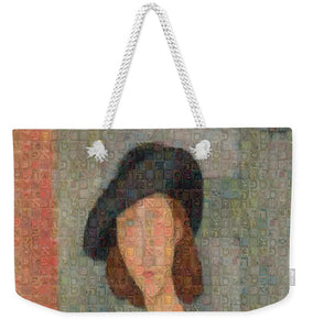 Tribute to Modigliani - 2 - Weekender Tote Bag - ALEFBET - THE HEBREW LETTERS ART GALLERY