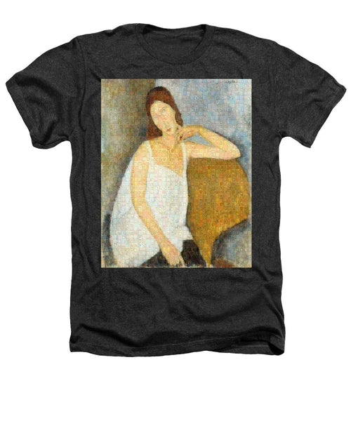 Tribute to Modigliani - 3 - Heathers T-Shirt - ALEFBET - THE HEBREW LETTERS ART GALLERY