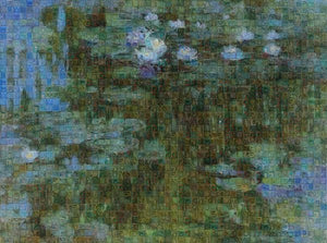Tribute to Monet - 1 - Art Print - ALEFBET - THE HEBREW LETTERS ART GALLERY