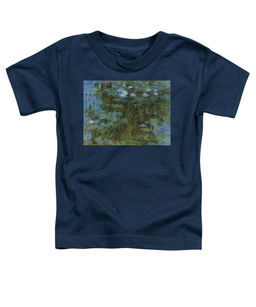 Tribute to Monet - 1 - Toddler T-Shirt - ALEFBET - THE HEBREW LETTERS ART GALLERY